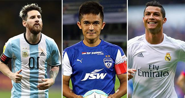 Sunil Chhetri: An upcoming Indian footballer compared with Ronaldo and Messi
