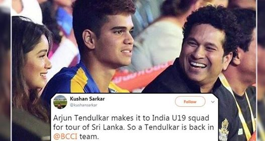 Arjun Tendulkar Gets Selected In U19 Team For Sri Lanka Tour And Twitter Is Happy About It