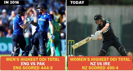 New Zealand Woman Team Sets New World Record By Scoring 490/4 Against Ireland