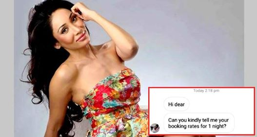 Sofia Hayat replies to the man who asked her 'Rates for 1 night'
