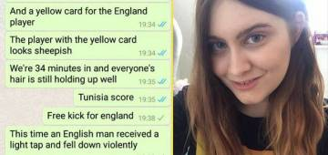 Girl sends World Cup updates to Boyfriend who was in Travel, Chat goes Viral