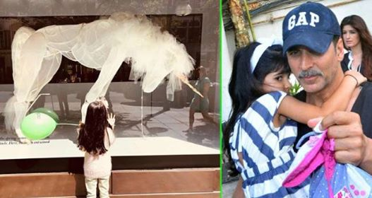Akshay Kumar Asks For Help As Daughter Nitara Wants To Pet A Unicorn With Wings