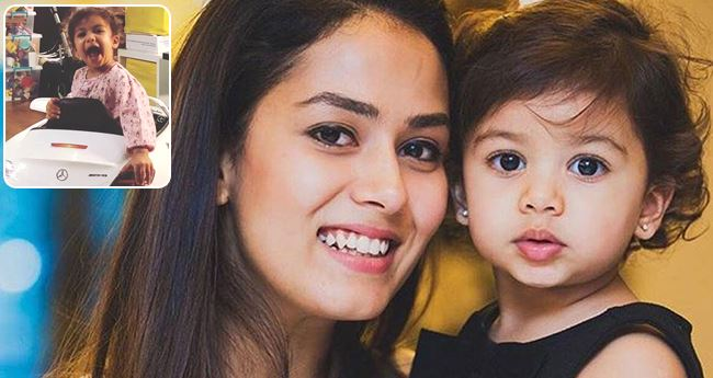 Baby Misha makes Super-cute expressions in pictures shared by Mira Kapoor