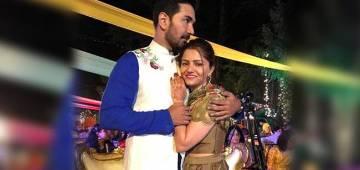 Pics: Rubina Dilaik Poring Out With Love For Abhinav Shukla As He Hugs Her At Engagement