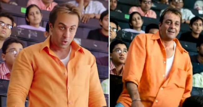 Ranbir Kapoor's Similarity To Sanjay Dutt In Teaser of Munnabhai Is Incredible