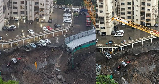 Wrath of Mumbai Rains: Over 15 Cars Trapped after Wall Collapses in Wadala