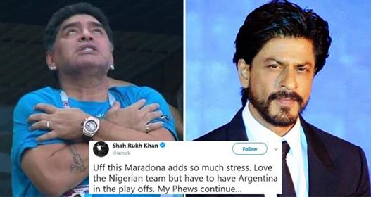 Shah Rukh Khan Said That He Was As Stressed As Maradona While Cheering For Argentina
