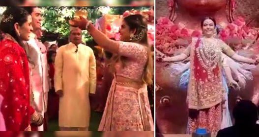 Akash – Shloka's engagement: Isha Ambani welcomes Shloka while Neeta performs