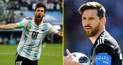 A Reporter Had Given Messi Lucky Charm By His Mother And Messi Wore It On His Foot Before Scoring Goal
