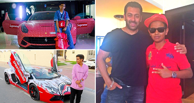 Salman Khan Was Awestruck To See The Massive Car Collection Of A 16 YO Dubai Kid