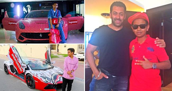 Salman Khan Was Awestruck To See The Massive Car Collection Of A 16 YO Dubai Kid