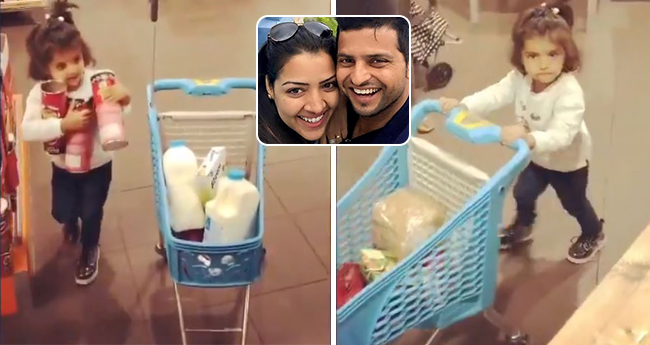 Suresh Raina's Daughter Gracia Out On Shopping, Video Is Ruling Our Hearts