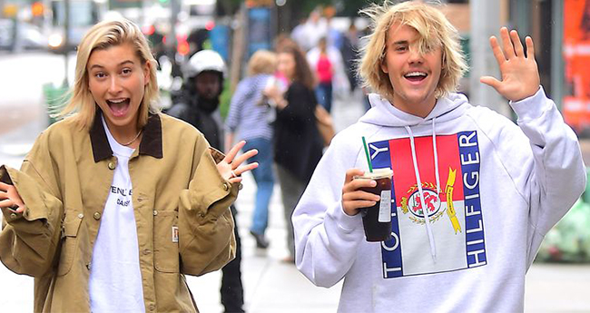Justin Bieber shares a passionate liplock with Hailey Baldwin