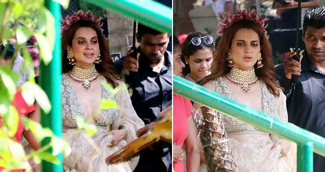 Pics: Kangana Ranaut Spotted In City Flaunting Floral Hairband