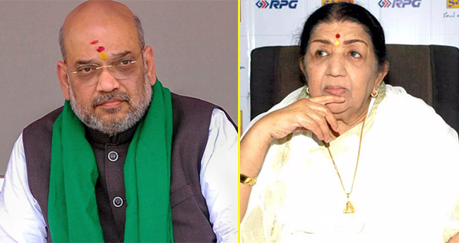 Lata Mangeshkar cancels her meeting with Amit Shah, gives an excuse of food poisoning
