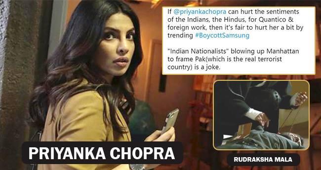 Tweeps Loose Cool Seeing Priyanka Chopra Wrongly Holding Rudraksh Mala In Quantico