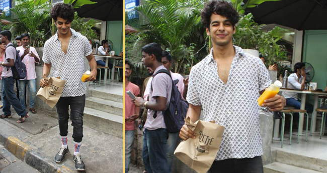 Pics: Ishaan wears socks on top of his jeans is the coolest trend adopted by any actor