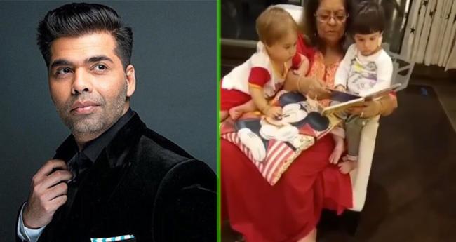Karan Johar's Mother Hiroo Johar Turns Storyteller To Her Grandchildren Yash And Roohi