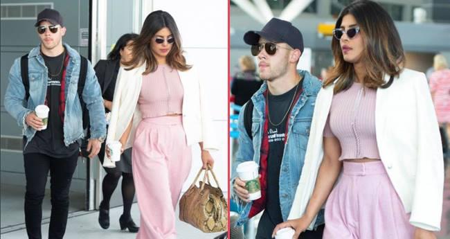 Pics: Priyanka Chopra arrives at JFK airport with alleged beau Nick Jonas