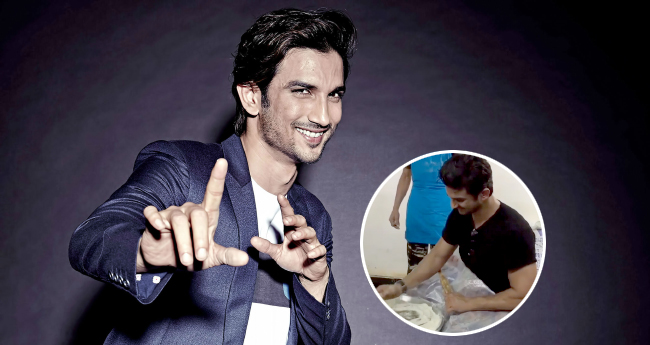 Video: Sushant Singh Rajput Makes Perfectly Round Chapatis At An Army Camp