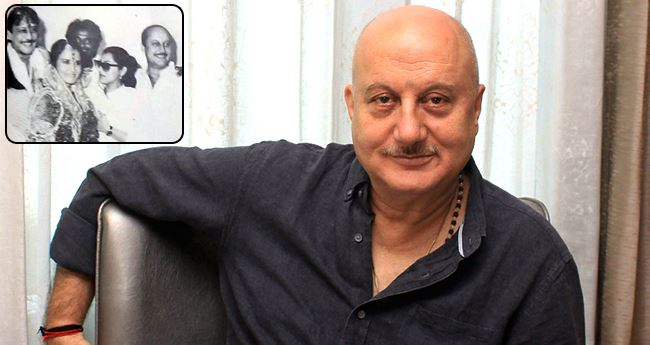 Anupam Kher shares a Throwback picture from Jackie Shroff's wedding, and it has Rajnikanth too