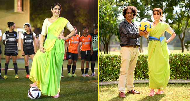 Zaheer Khan's wife Sagarika Ghatge plays football in Saree and wins our hearts