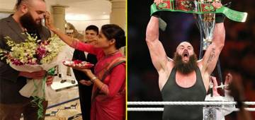 WWE Superstar Braun Strowman Receives Grand Welcome As He Arrives in India