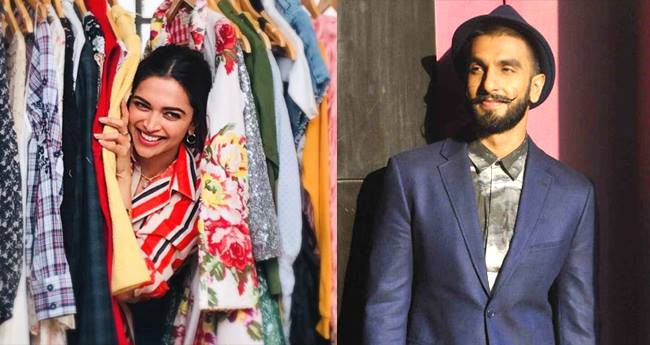 Deepika Padukone peeps from her closet and we are looking for Ranveer Singh's comment
