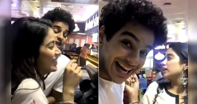 Janhvi Kapoor and Ishaan Khatter having fun while ordering pizza is basically all of us