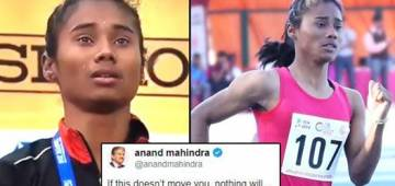 After Winning Gold, Hima Das Became Teary Eyed As She Proudly Sang The National Anthem