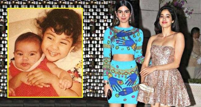 Childhood pictures of Janhvi and Khushi Kapoor on social media are heart throbbing