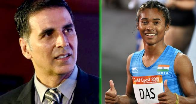 As a producer Akshay Kumar would like to make a biopic of Indian athlete Hima Das