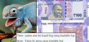 Lavender coloured new note of Rs. 100 is now a trending meme on social media