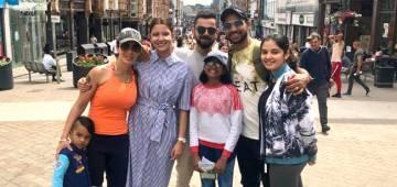 Virat Kohli and Shikhar Dhawan are enjoying some family time in England