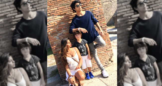 Shah Rukh Khan's Children Aryan, Suhana, AbRam Posed Together For A Pic And It Is Perfect