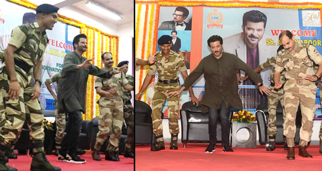 Anil Kapoor Has A Gala Time With CISF Soldiers, Dances On 'My Name Is Lakhan'