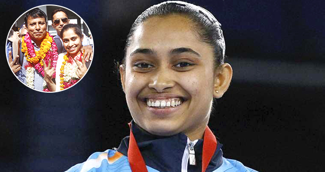 Dipa Karmakar received a warm welcome as she bagged gold in Artistic Gymnastics World Challenge Cup