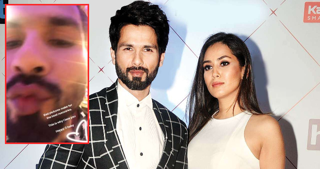 Mira Rajput Shares an embarrassing picture of Shahid On Their 3rd wedding anniversary
