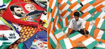 Delhi's kite market is all ready with political satire and social messages kites