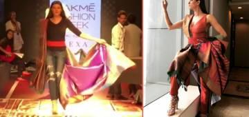 Sushmita Sen Looked Stunning In Her Pant Style Saree At Lakme Fashion Week