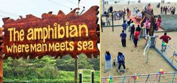 The Amphibian At Kannur's Payyambalam Beach Becomes India's First Open-Air Gym