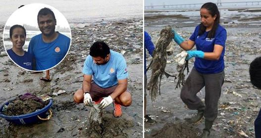 Mumbai Couple Cleared 650 Tonnes Of Plastic From Mahim Beach, Brings It Back To Life