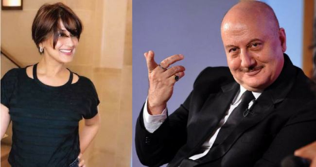 Image result for latest images of anupam kher with sonali bendre