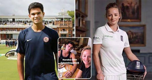 England Women Cricketer Danielle Wyatt Uploaded Video Cheering Arjun Tendulkar Helping Staff