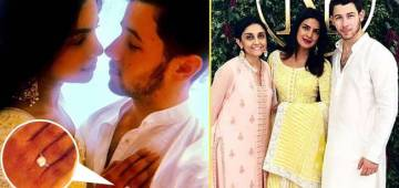 Wearing A Lemon Yellow Anarkali, Priyanka Chopra Showed Her Engagement Ring At Roka Ceremony