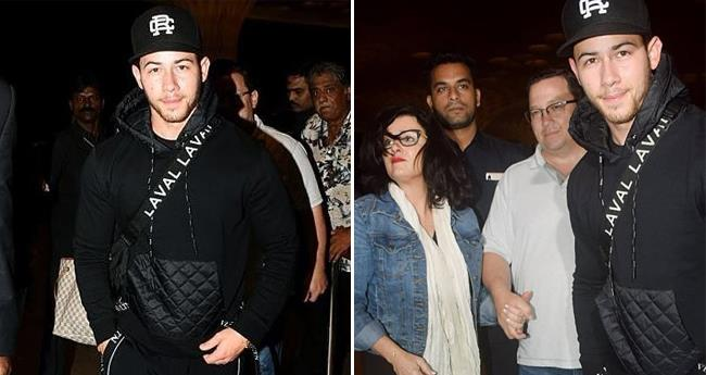After a Grand Engagement Bash, Nick Jonas And His Parents Head Back To The US