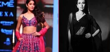 Lakme Fashion Week: Karisma Rocks In Black Saree, Janhvi Looks Like A Dream In Pink Lehenga