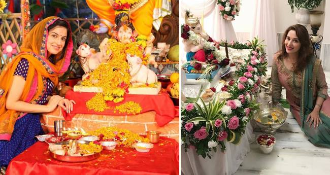 Throwback Pictures Of Bollywood Celebs With Lord Ganesha At Their Home
