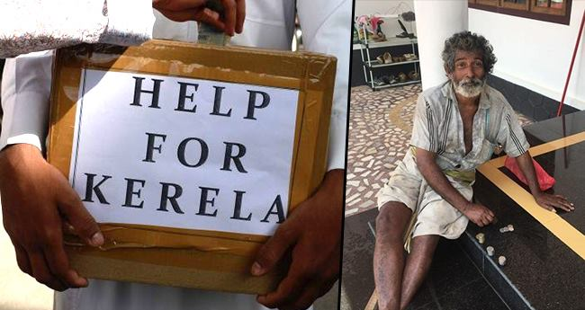 Man Donated A Small Amount To Kerala Relief Fund That He Himself Had Received In Charity