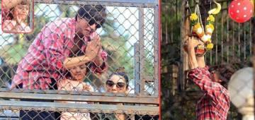 ShahRukh Khan Celebrated Dahi Handi With Son AbRam